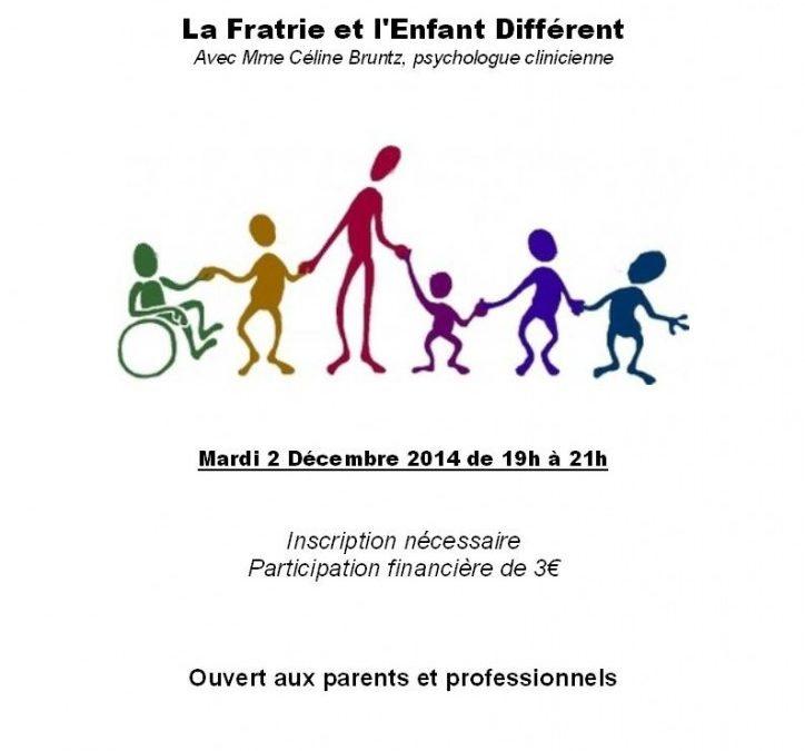 Conférence «La Fratrie et l'Enfant Différent» – Le 2 Décembre à l'Ecole des Parents