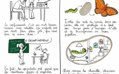 Des illustrations pour expliquer le coronavirus et le confinement aux enfants